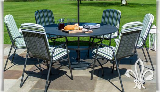 Grosser Gartentisch Burton 150cm Aus Stahlrohr Gartentraum De