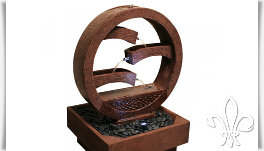 kaskaden wasserspiel kahewei aus fi beton. Black Bedroom Furniture Sets. Home Design Ideas
