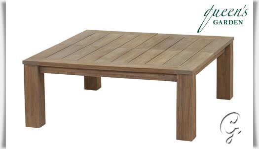 Gartentisch Holz Quadratisch ~   Teakholz  quadratisch  110x110x44 64cm  Accento Low Dining Tisch