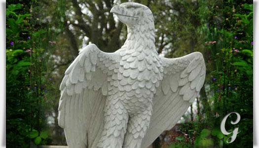 Adler Figur Aus Stein