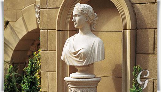 Antike b ste der jungfrau helena - Antike gartendeko ...