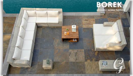 helles gartensofa eckmodul atlanta. Black Bedroom Furniture Sets. Home Design Ideas