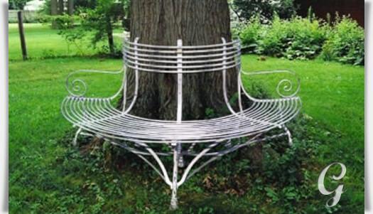 halbrunde bank f r b ume egmond. Black Bedroom Furniture Sets. Home Design Ideas