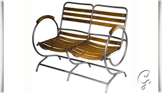 besondere gartenbank ninon 2 sitzer. Black Bedroom Furniture Sets. Home Design Ideas