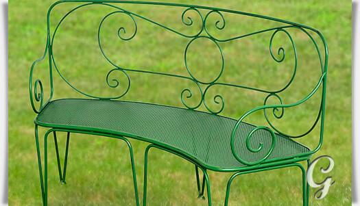 gartenbank maurine aus metall. Black Bedroom Furniture Sets. Home Design Ideas