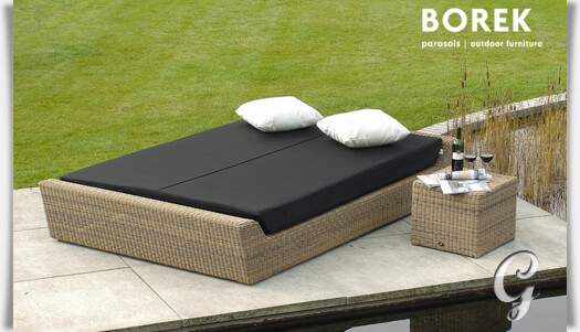 gro e gartenliege f r zwei bali polyrattan. Black Bedroom Furniture Sets. Home Design Ideas