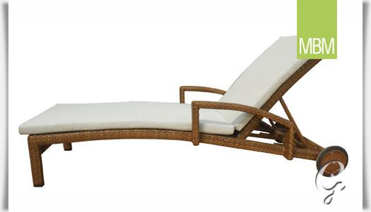 gartenliege mit rollen bellini von mbm. Black Bedroom Furniture Sets. Home Design Ideas