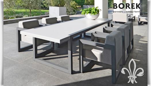 aluminium garten tisch bergen eckig. Black Bedroom Furniture Sets. Home Design Ideas