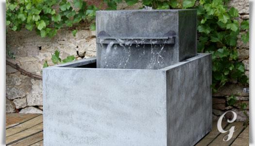 moderner zink gartenbrunnen meditazione. Black Bedroom Furniture Sets. Home Design Ideas