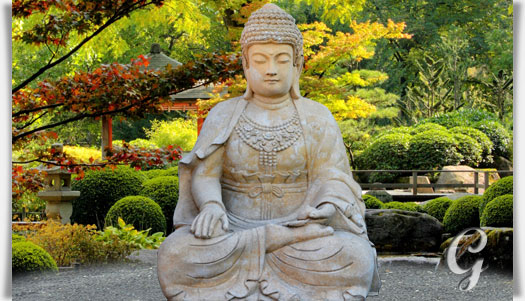 Gro er buddha sitzend steinskulptur sila for Steinskulptur garten