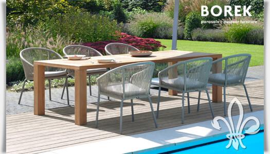Moderne outdoor sitzgruppe colette kaufen for Moderner holztisch