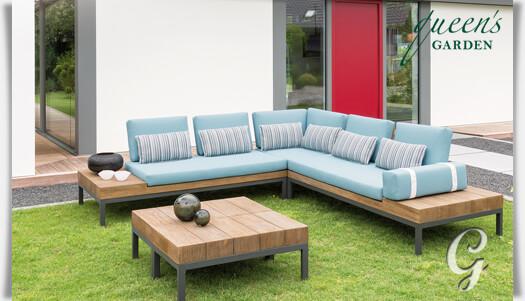 Garten Lounge-Bank mit Kissen »Combi« • Gartentraum.de