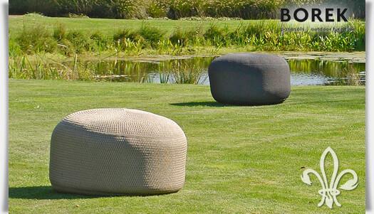 outdoor sitzhocker crochette sandfarben. Black Bedroom Furniture Sets. Home Design Ideas