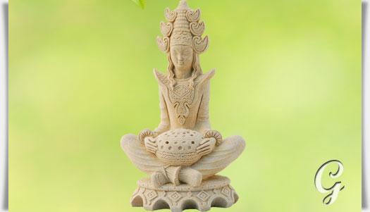 kleine buddha deko figur sakayas. Black Bedroom Furniture Sets. Home Design Ideas