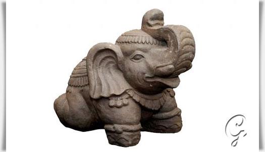 kleiner elefant als steinfigur handarbeit antik steinguss. Black Bedroom Furniture Sets. Home Design Ideas