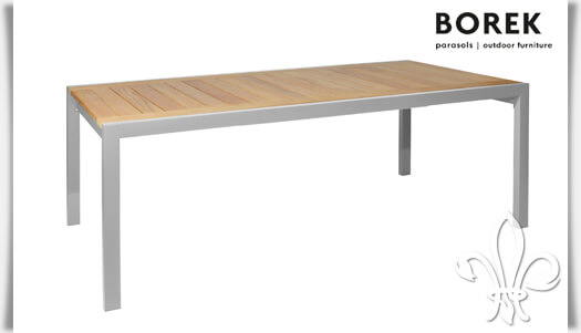 garten ausziehtisch elx aus edelstahl holz. Black Bedroom Furniture Sets. Home Design Ideas