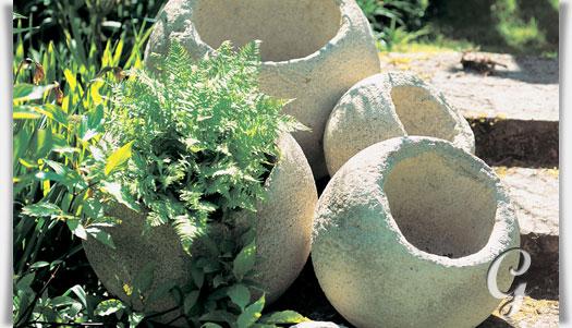 Kugel pflanztopf aus steinguss miracelus - Exklusive gartendeko ...