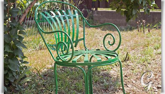 Gartenstuhl Jean Aus Gusseisen Antik • Gartentraum