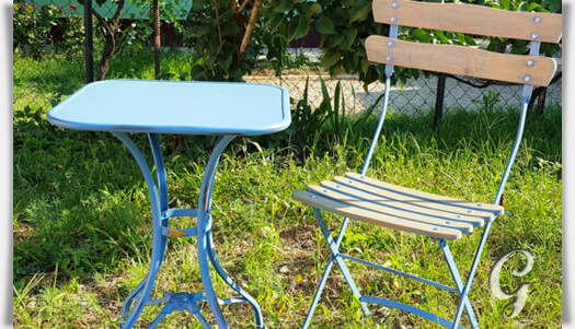 Gusseisen tisch pluton f r den garten - Gartenmobel schmiedeeisen gebraucht ...
