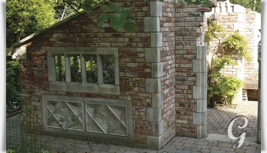 ruinen fenster element aus stein radbroke