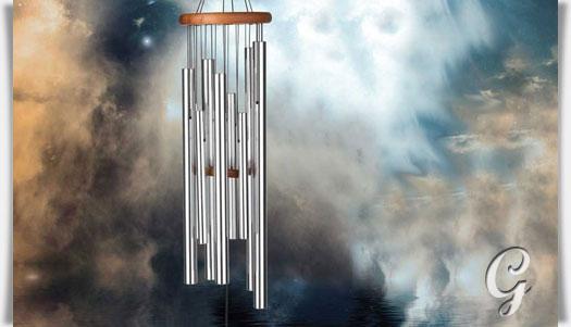 windspiel mit klangk rpern mystery. Black Bedroom Furniture Sets. Home Design Ideas