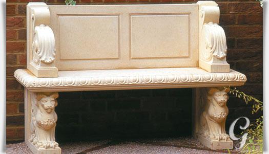 garten steinbank mit lehne raynham hall. Black Bedroom Furniture Sets. Home Design Ideas