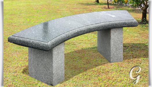 Granit bank almada f r den garten - Gartenbank aus stein ...