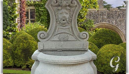 Naturstein Wandbrunnen Mit Löwenkopf Gartentraumde