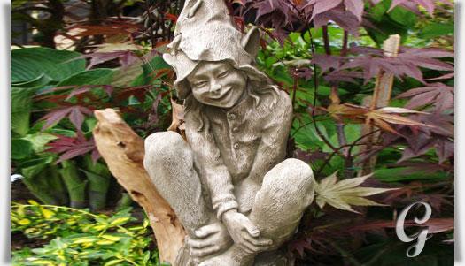 gartenfigur elfe aus steinguss fenea