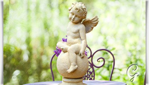 Deko gartenengel aus stein flavus for Gartendeko figuren gunstig