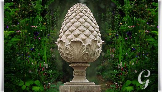 Gartendeko aus stein  Ananas aus Stein - Gordian • Gartentraum.de