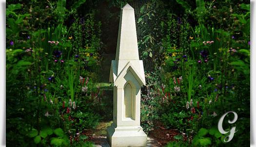gothischer stein obelisk f r den garten. Black Bedroom Furniture Sets. Home Design Ideas