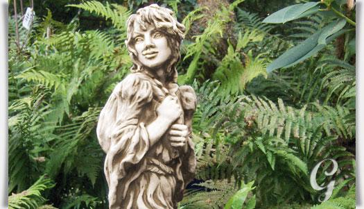 Lustige steinguss gartenfigur gunfried for Gartenfiguren aus steinguss
