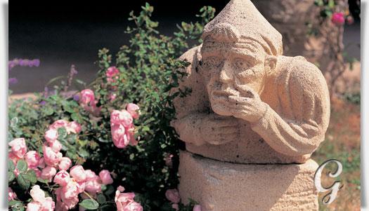 Garten steinguss dekofigur geoffrey for Gartenfiguren aus steinguss