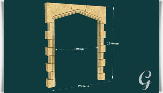 antik tor bogen f r gartenruine manor house. Black Bedroom Furniture Sets. Home Design Ideas