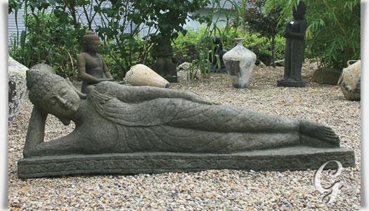 kunstvoller buddha liegend pranjal aus thailand. Black Bedroom Furniture Sets. Home Design Ideas