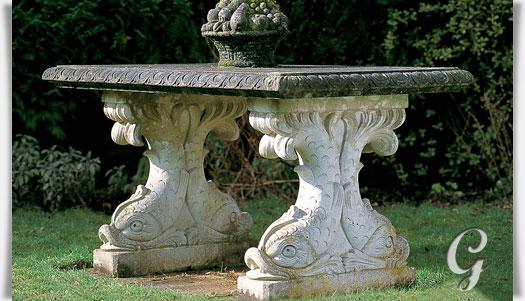 Antiker Steintisch Fur Den Garten Henbury House Gartentraum De
