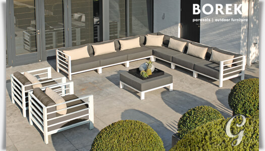 outdoor loungemodul horizon in wei. Black Bedroom Furniture Sets. Home Design Ideas