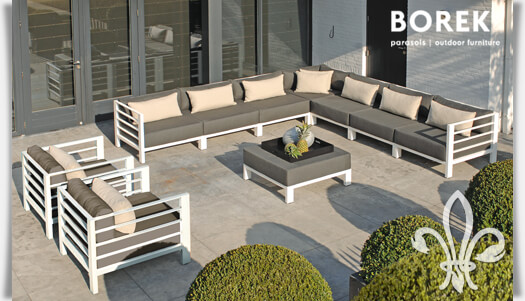 gartenlounge set horizon ecksofa gartensessel. Black Bedroom Furniture Sets. Home Design Ideas