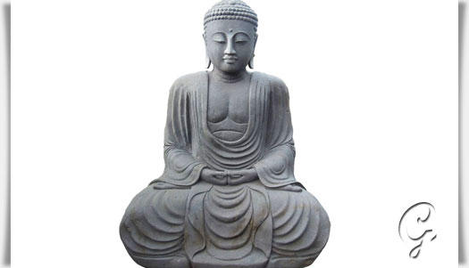 japan buddha sitzend unikat aus naturstein handarbeit. Black Bedroom Furniture Sets. Home Design Ideas