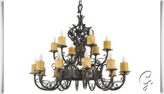 kronleuchter mit echten kerzen kronleuchter mit echten. Black Bedroom Furniture Sets. Home Design Ideas