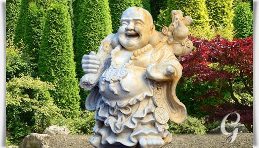 Lachender buddha steinskulptur vairocana for Steinskulptur garten