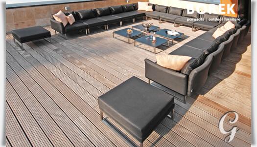 Loungemöbel outdoor schwarz  Design Lounge Hocker »Libero« von Borek • Gartentraum.de