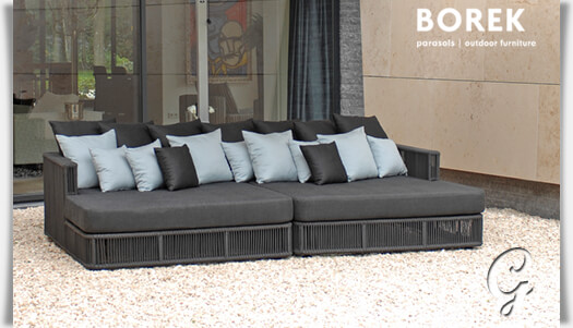 gartensofa lincoln von borek aluminium. Black Bedroom Furniture Sets. Home Design Ideas