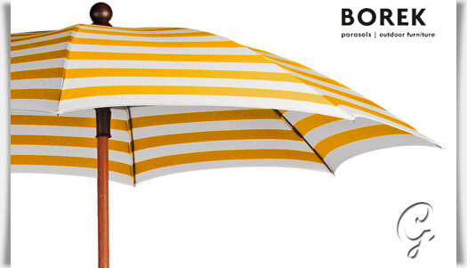 sonnenschirm gelb wei prinsenvanderaa. Black Bedroom Furniture Sets. Home Design Ideas