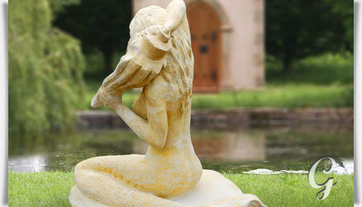 meerjungfrau stein skulptur aria. Black Bedroom Furniture Sets. Home Design Ideas