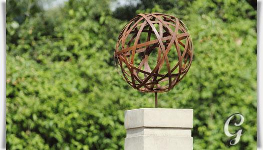 Abstrakte garten dekoskulptur golong for Metallskulpturen garten