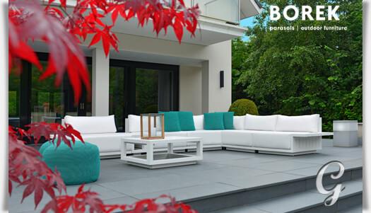 borek loungemodul murcia mit kissen. Black Bedroom Furniture Sets. Home Design Ideas