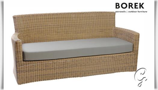 Gartensofa nova aluminium polyrattan for Couch auflage