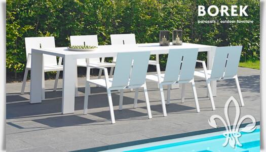 Gartenmöbel Set Gartentisch Gartenstühle Weiß Aluminium Modern Bestellen